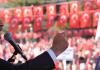 CHP-Chef Kemal Kilicdaroglu während eines Parteimeetings am Tag der Republik.