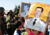 Assad Anhänger und syrische Soldaten