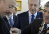 Haydar Aliyev, der türkische Premierminister und Gül - dha