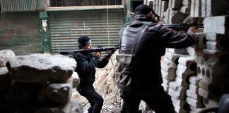 Eine Kriegsszene aus dem syrischen Bürgerkrieg.