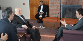 Fethullah Gülen während des BBC-Interviews.