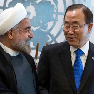 Hassan Rohani und Ban Ki Moon - reuters