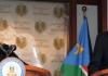 Der Präsident von Südsudan Salva Kiir und der Präsident von Sudan Omar al Bashir