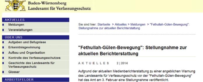 Das Landesamt Baden-Württemberg für Verfassungsschutz hat zu der aktuellen Debatte über die Hizmet-/Gülen-Bewegung in Deutschland Stellung bezogen.