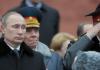 Putin und russische Generäle.