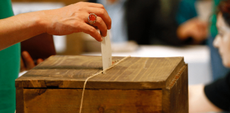 Eine Wahlurne in der Türkei