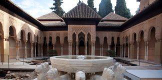 Ein Brunnen in der Alhambra.