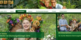 RTL - Dschungelcamp - homepage