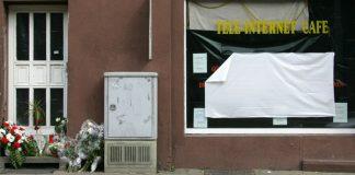 Blick auf das Internet-Café in Kassel, in dem der Betreiber Halit Yozgat ermordet wurde, aufgenommen am 10.04.2006.