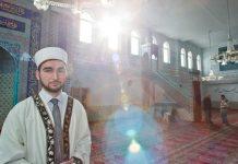 Der Imam Talha Dogan steht am 06.02.2015 in die Eyüp-Sultan-Moschee in Nürnberg (Bayern). In die Moschee in der Nürnberger Südstadt - die größte Moschee in Bayern - kommen jeden Freitag bis zu 2500 gläubige Muslime zum Beten und zum Diskutieren.