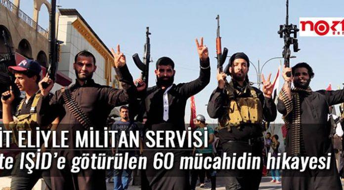 """Die Titelseite des Nokta-Artikels zeigt mehrere bewaffnete Kämpfer der Terrormiliz """"Islamischer Staat""""."""