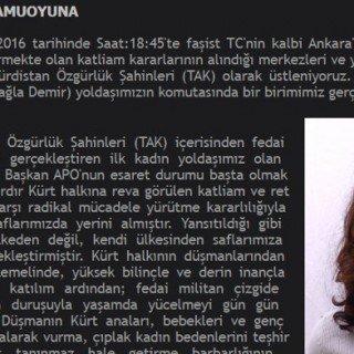 TAK-Bekennerschreiben zu Anschlag in Ankara