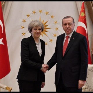 britische Regierungschefin Theresa May und türkischer Präsident Recep Tayyip Erdogan