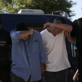 nach Griechenland geflohene türkische Soldaten