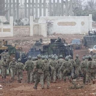 türkische Soldaten im syrischen Al-Bab
