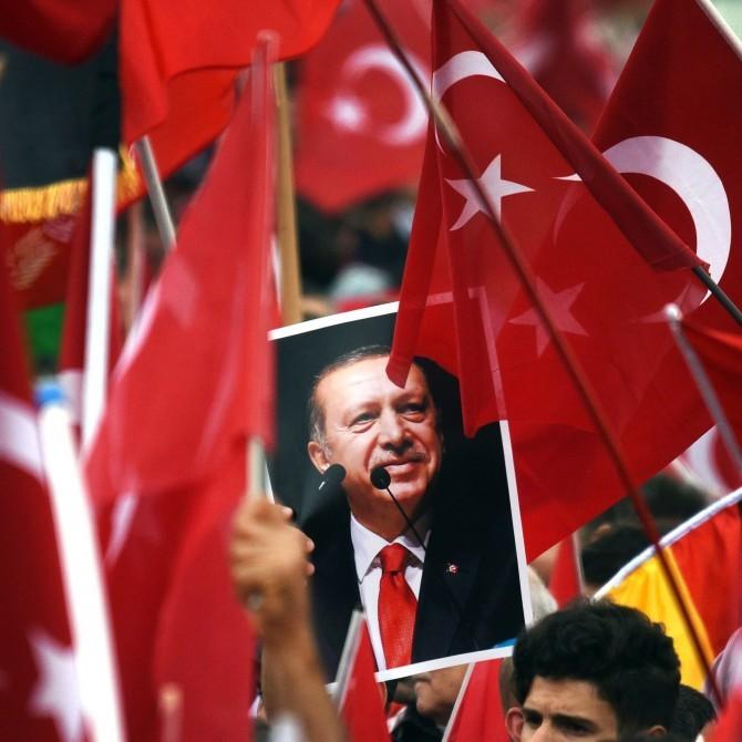 Bild des türkischen Präsidenten Recep Tayyip Erdoğan