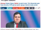 Türkische Zeitung Takvim über Sigmar Gabriel – Minister für Drecksarbeit
