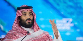 Der saudi-arabische Kronprinz Mohammed bin Salman spricht am 24.10.2017 bei der Eröffnungszeremonie einer Konferenz in Riad (Saudi-Arabien). Kronprinz Mohammed bin Salman hat sich in ungewöhnlich klaren Worten für die Liberalisierung des ultrakonservativen Königreiches ausgesprochen.