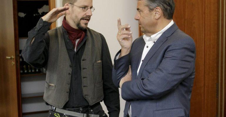 Gabriel trifft Steudtner – «Beeindruckender Mann»